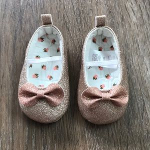 Carter's Gold/Rose Gold Glitter Infant Shoes-NWOT